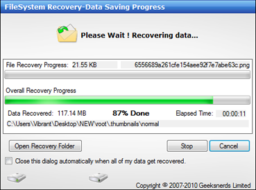 data lost recovery software: